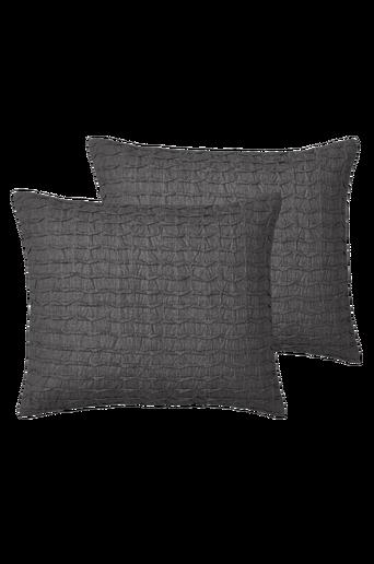 JOHANNA-tyynynpäälliset, 2/pakk. Tummanharmaa