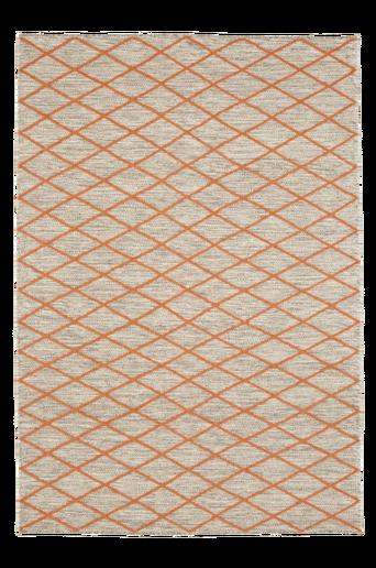 TURINO-villamatto 140x200 cm Luonnonvalkoinen/oranssi