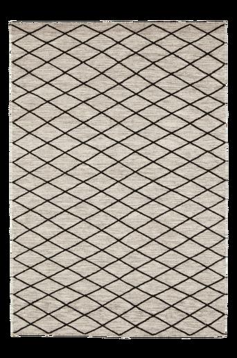TURINO-villamatto 140x200 cm Luonnonvalkoinen/musta