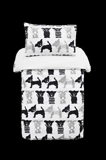 Ekologinen pinnasängyn FIAT-pussilakanasetti, 2 osaa Musta/harmaa