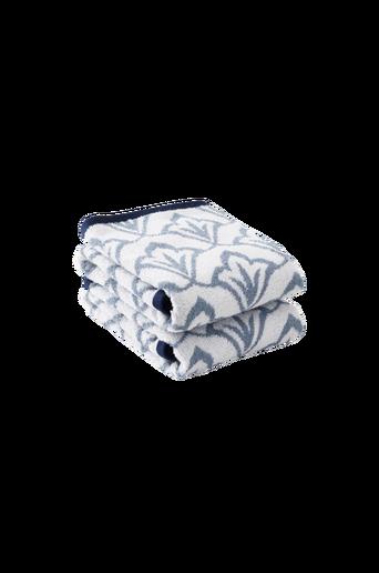 NADETTE-käsipyyhkeet, 2/pakk. Sininen/luonnonvalkoinen