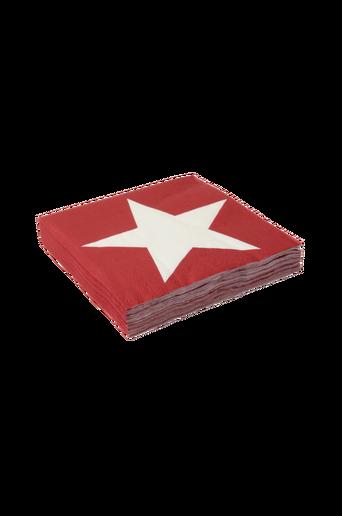 STARRY BIG -lautasliinat, 20/pakk. Punainen