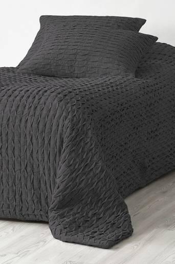 JOHANNA-päiväpeite – kapeaan sänkyyn 180x260 cm Tummanharmaa