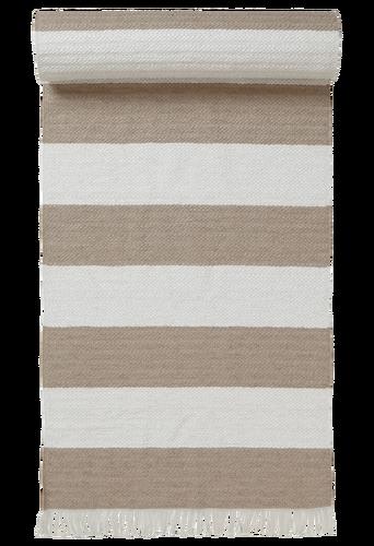 RÄNDER-muovimatto, 70x150 cm Beige/valkoinen