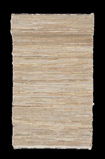 GALLARATE-nahka-/juuttimatto 70x150 cm Beige