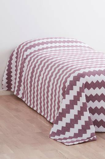 ZINA-päiväpeite kapeaan sänkyyn 180x260 cm Viininpunainen