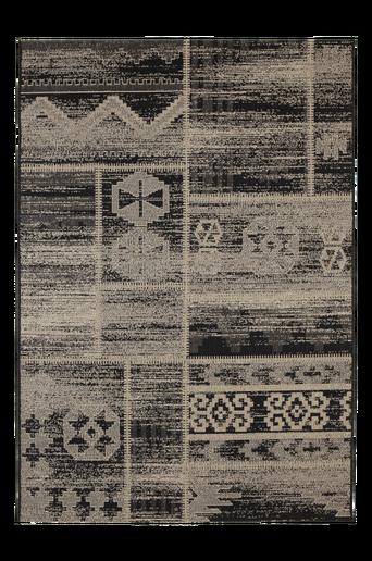 SICILIEN-bukleematto 160x230 cm Musta/harmaa