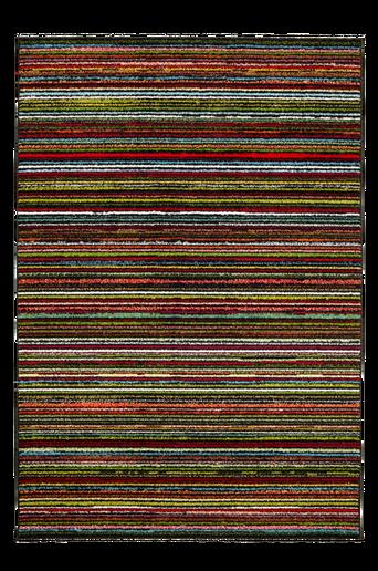BOLOGNA-ryijymatto, 135x190 cm Musta/monivärinen raidallinen