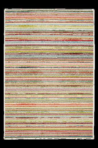 BOLOGNA-ryijymatto, 135x190 cm Valkoinen/monivärinen raidallinen