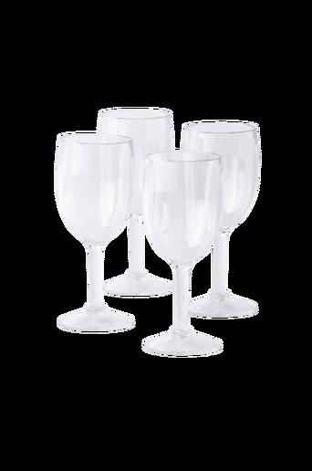SYRAH-viinilasit muovia, 4/pakk. Kirkas