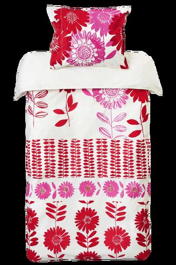 FLOWER PATCH -pussilakanasetti, 2 osaa Punainen