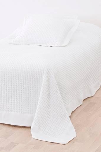 DIYA-päiväpeite kapeaan sänkyyn 180x260 cm Valkoinen