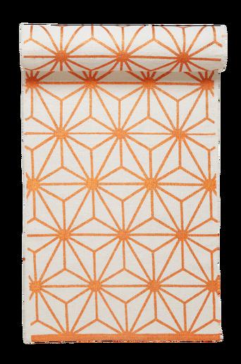 TRIESTE-puuvillamatto 70x250 cm Valkoinen/kupari