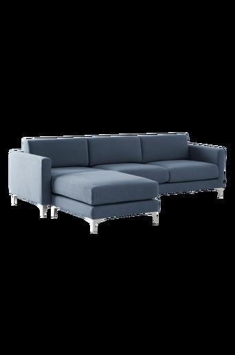 3:n istuttava NEW YORK -sohva/divaani Sininen