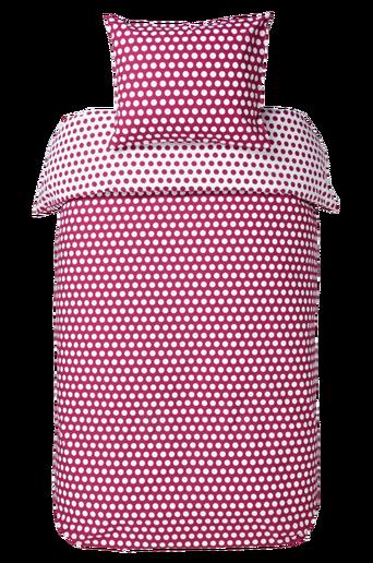 LISEN-pussilakanasetti, 2 osaa Fuksianliila/valkoinen
