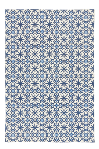 LIGNANO-puuvillamatto 160x230 cm Sininen