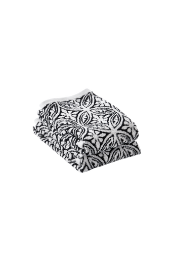 CARMELA-käsipyyhkeet, 2/pakk. Musta