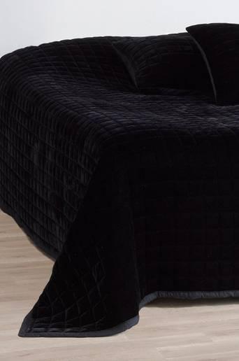 SAM-päiväpeite parisänkyyn 260x260 cm Musta