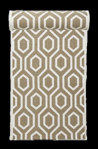 RIVOLI-puuvillamatto 70x250 cm Valkoinen/beige