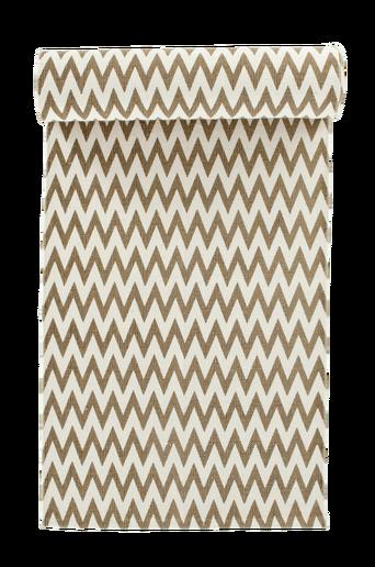 RHO-puuvillamatto 70x250 cm Valkoinen/beige