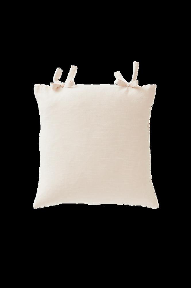 KURSIV kuddfodral 45×45 cm – knytband