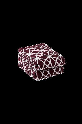 NADIA-käsipyyhkeet, 2/pakk. Viininpunainen/luonnonvalkoinen