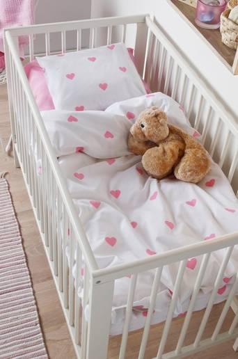 Ekologinen vauvan SWEETHEART-pussilakanasetti, 2 osaa Roosa