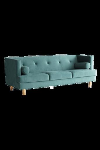 OAKDALE-sohva, 3:n istuttava Vihreä