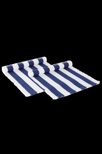 DUKA RAND -kaitaliinat, 2/pakk. – raidalliset Tummansininen/valkoinen