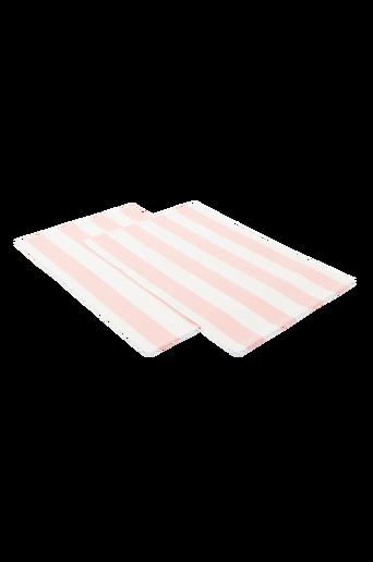 DUKA RAND -pöytätabletit, 2/pakk. Vaalea roosa/valkoinen