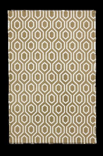 RIVOLI-puuvillamatto 130x190 cm Valkoinen/beige