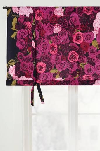 ROSIE-laskosverho Musta/roosa
