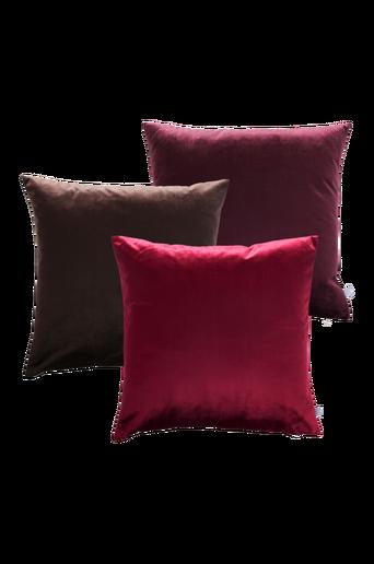 SIMONE- tyynynpäälliset, 3/pakk. 50x50 cm Ruskea/liila/punainen