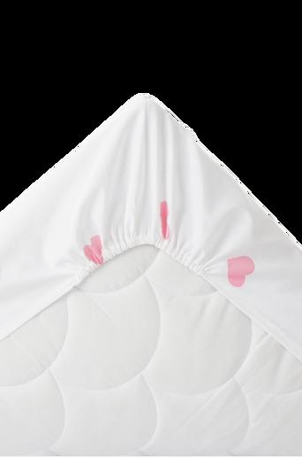 Ekologinen vauvan SWEETHEART-kuminauhalakana, 60x120 cm Roosa