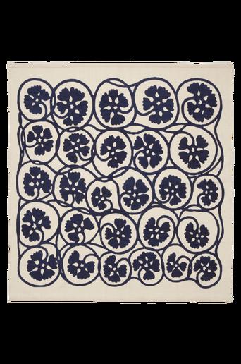 SLINGRIG-puuvillamatto 160x160 cm Sininen