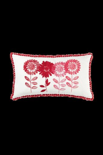 FLOWER PATCH -tyynynpäällinen 70x40 cm Punainen