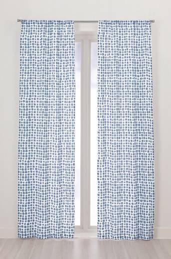 MIX BIG DOTS -sivuverhot, 2/pakk. Sininen