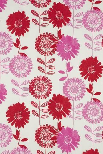 FLOWER PATCH -kangas/m Punainen