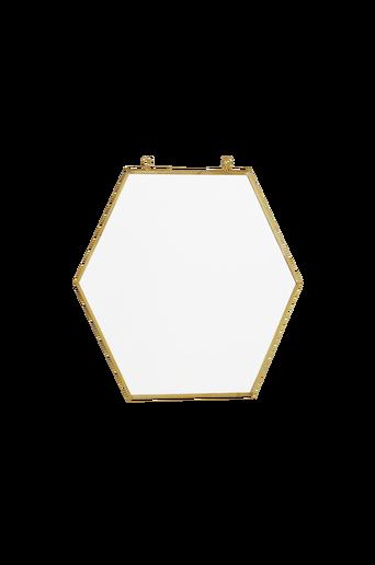 Keskikokoinen HEXAGON-peili Messinginvärinen