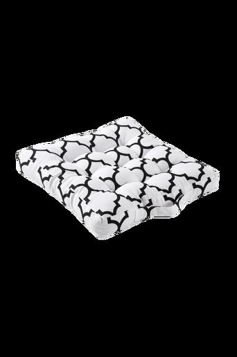 MARIELLE-istuintyyny 40x40 cm Valkoinen/musta