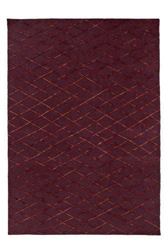 ASTI-villamatto 250x350 cm Viininpunainen