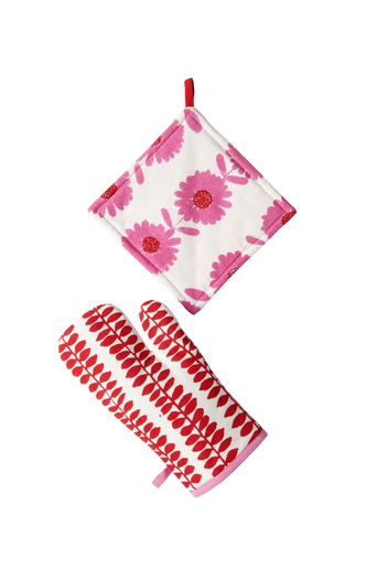 FLOWER PATCH -patalappusetti, 2 osaa Punainen