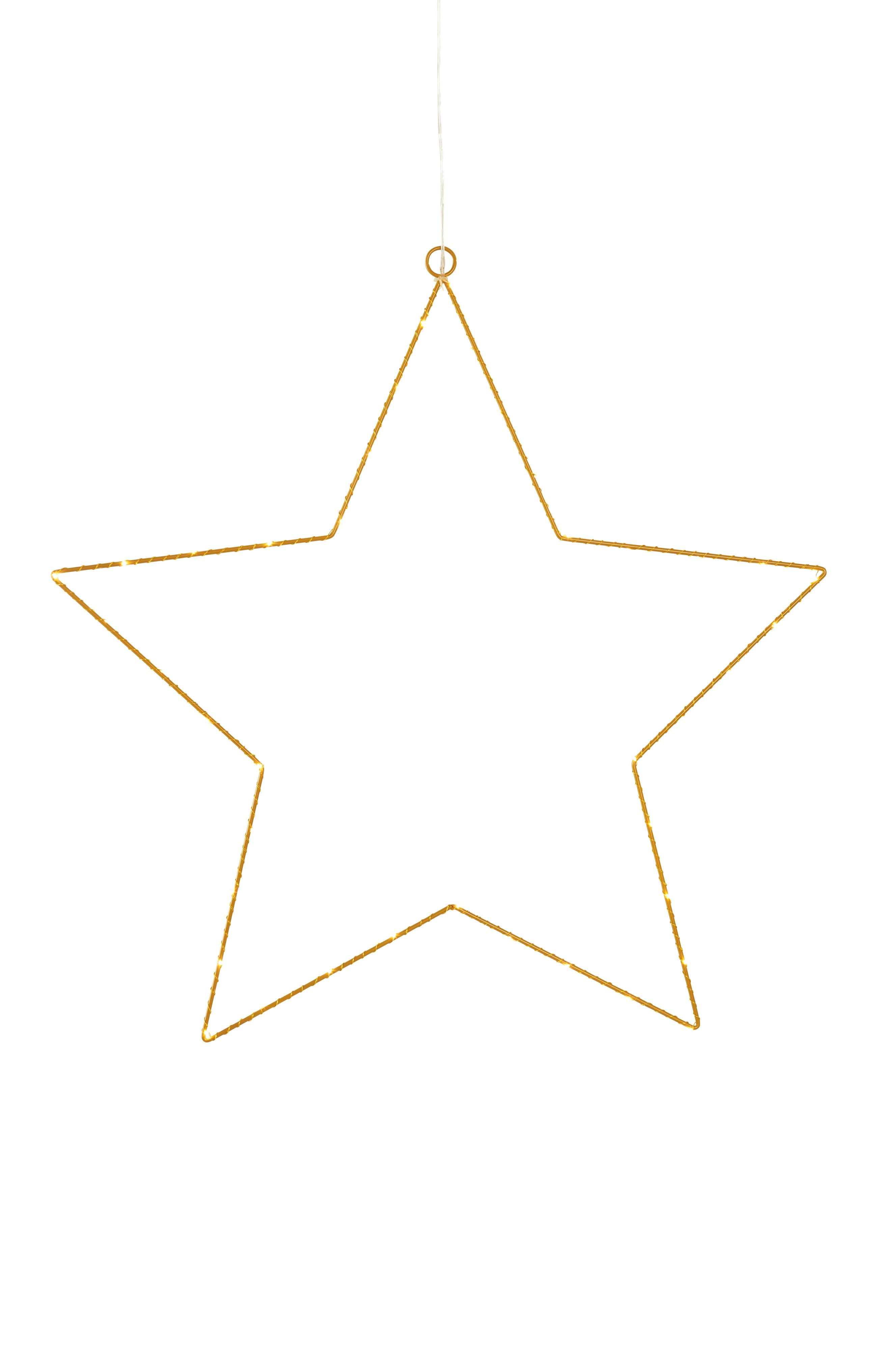 Topnotch META stjerne med LED-lys - stor - Messing - Belysning - Jotex.dk QY-36