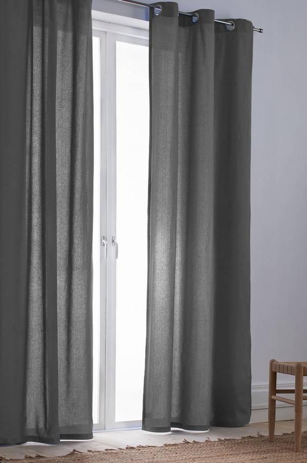 Bilde av COLOUR gardiner med maljer 2-pk - økologisk - 30151