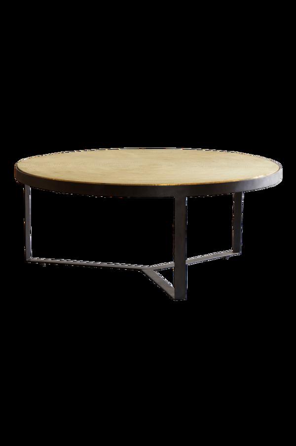 Bilde av BENGALURU sofabord ø 100 cm - Svart/antikkmessing