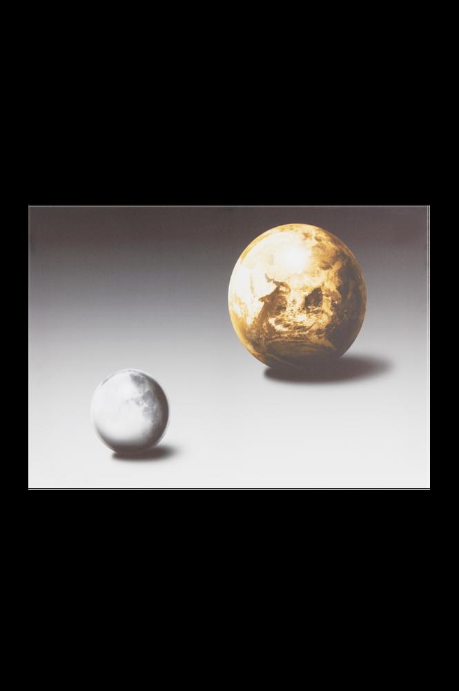 MOON & EARTH tavla 70×50 cm