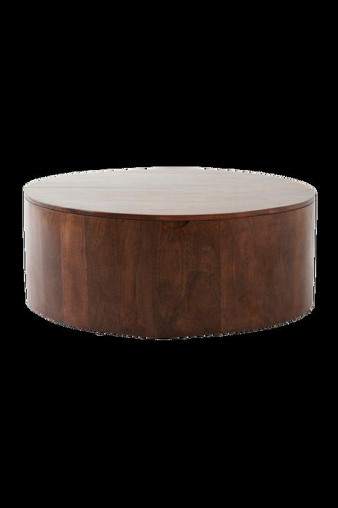 HUBLI soffbord med förvaring, ø 90 cm