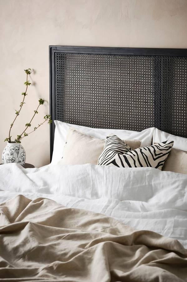 Bilde av ALMORA sengegavl 180 cm - Svart