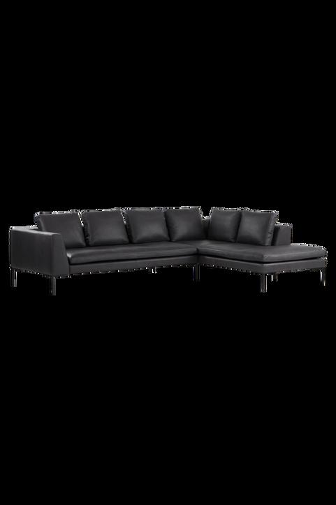 ALBA soffa 3-sits - divan höger - läder