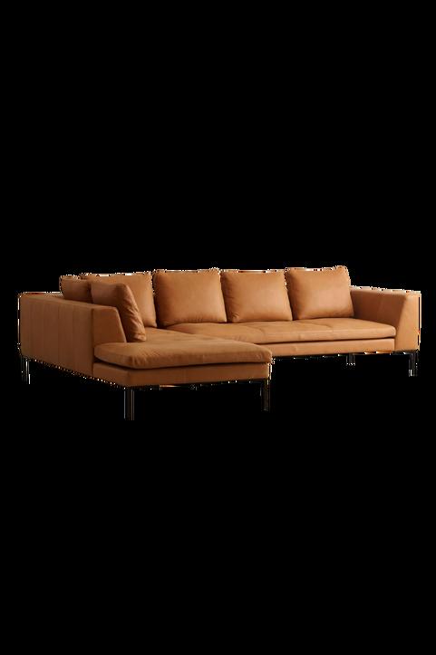 ALBA soffa 3-sits - divan vänster - läder